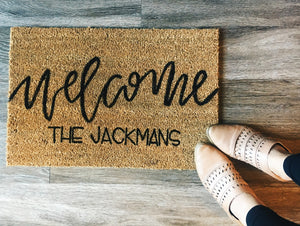 Village Co x Lottie Lane: Hand Painted CUSTOM Welcome Mat