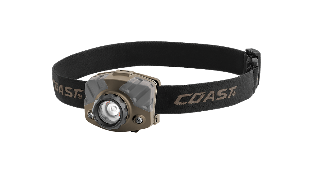 COAST FL78R 530 Lumen Tri-Color LED Headlamp, front photo
