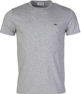 Lacoste - Mens Short Sleeve Crewneck T Shirt - Grey - Raw Apparel uk - l - Lacoste Mens Clothing and apparel - New 2018 Fashion Trends and Styles,  Free Shipping, #uk, Mens clothing & apparel, T Shirts , Summer sale, #Streetfashion
