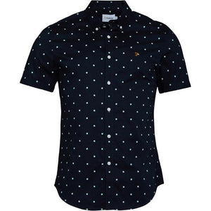 Farah Vintage Mens Ray Short Sleeve Shirt True Navy - Raw Apparel uk - l - Farah Mens Clothing and apparel - New 2018 Fashion Trends and Styles,  Free Shipping, #uk, Mens clothing & apparel, T Shirts , Summer sale, #Streetfashion