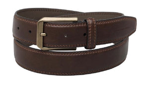French Connection Mens Double Stitch Casual Belt Brown - Raw Apparel uk - l - French Connection Mens Clothing and apparel - New 2018 Fashion Trends and Styles,  Free Shipping, #uk, Mens clothing & apparel, T Shirts , Summer sale, #Streetfashion