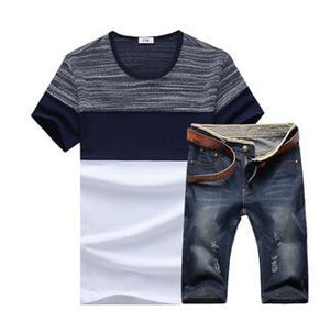 Mens  summer Outfit | Tshirt with denim shorts | 2 Piece Set | - Raw Apparel uk - l - Raw-Apparel-uk Mens Clothing and apparel - New 2018 Fashion Trends and Styles,  Free Shipping, #uk, Mens clothing & apparel, T Shirts , Summer sale, #Streetfashion