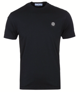 Stone Island - Mens Black Short Sleeve Crewneck T Shirt - Raw Apparel uk - l - Stone Island Mens Clothing and apparel - New 2018 Fashion Trends and Styles,  Free Shipping, #uk, Mens clothing & apparel, T Shirts , Summer sale, #Streetfashion