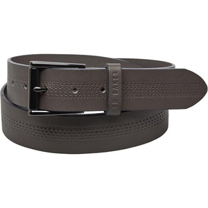 Ted Baker Mens Brambel Centre Texture Belt Grey - Raw Apparel uk - l - Ted Baker Mens Clothing and apparel - New 2018 Fashion Trends and Styles,  Free Shipping, #uk, Mens clothing & apparel, T Shirts , Summer sale, #Streetfashion