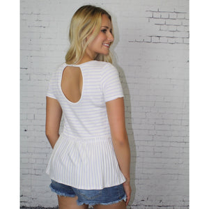 Ruffle Trim Open Back Top