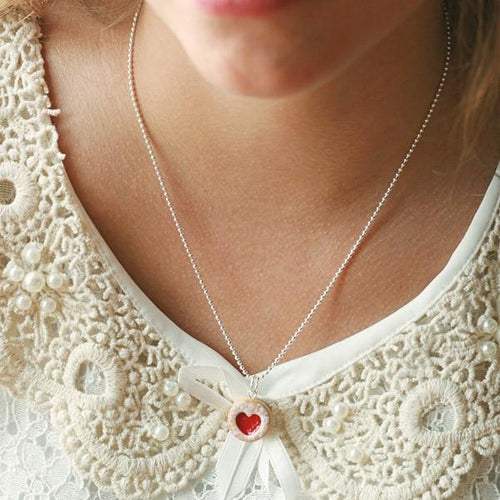 Scented or Unscented Shortcake Heart Cookie Necklace