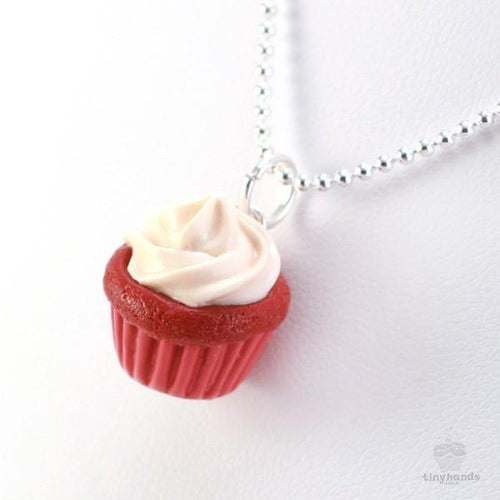 Scented or Unscented Red Velvet Cupcake Necklace
