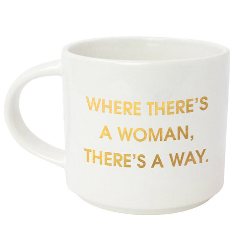 Where There's a Woman There's A Way Metallic Gold Mug