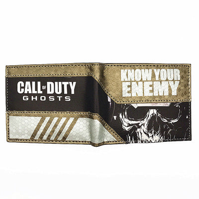 COD Know Your Enemy Bi-Fold Leather Wallet - Pro Game Stop