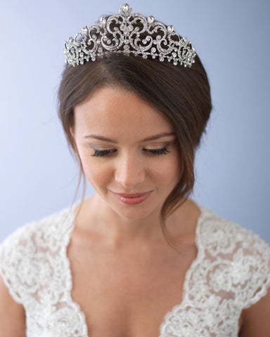 Swarovski Crystal & Pearl Crown
