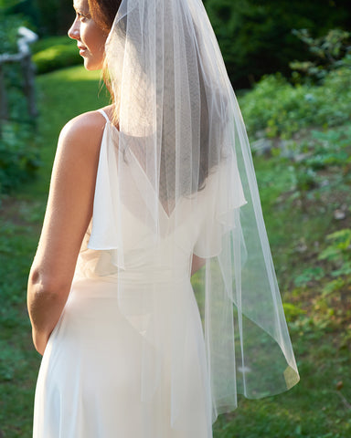Julia Crystal Beaded Veil