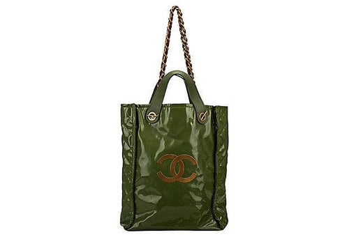 CHANEL Lim. Ed Green PVC Harrods Handbag