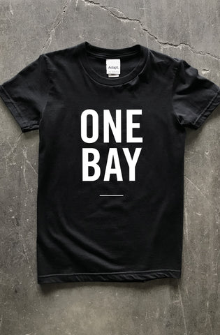 Lovegang x Adapt :: One Bay (Women's Black Tee)