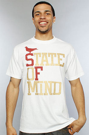 State of Mind (Men's White/Gold Tee)