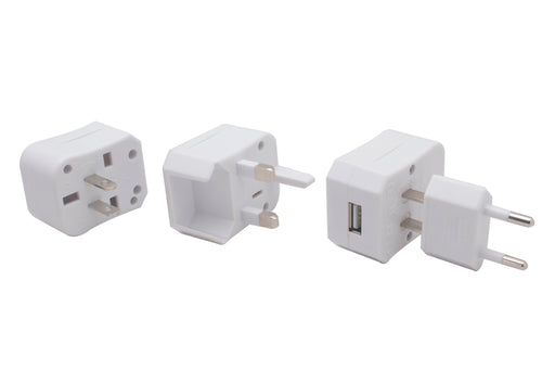 WORLD TRAVEL ADAPTER SINGLE USB WITH CASE