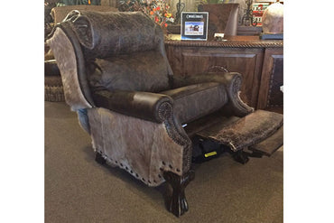 Leather and Cowhide Recliner