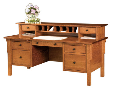 Central Desk With Hutch