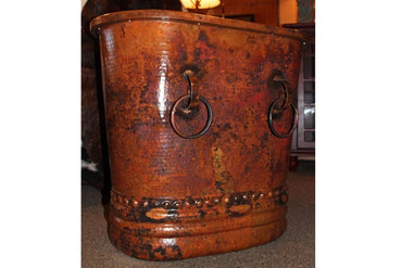 Hammered Copper Drum End Table