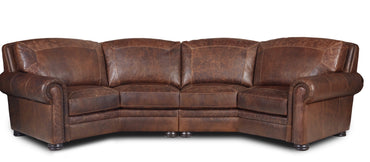 Denver Leather Curved Sofa