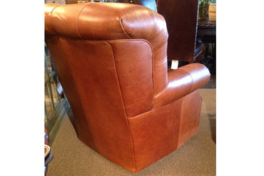 Western Tufted Leather Chair