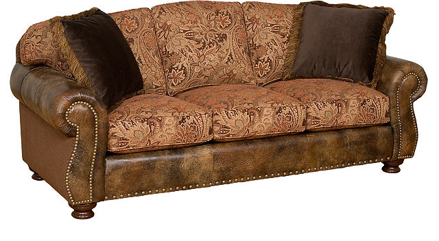 Hart Leather/ Fabric Sofa