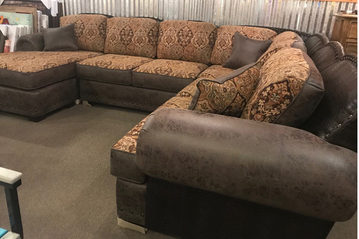 Custom Sectional with Gator Accents