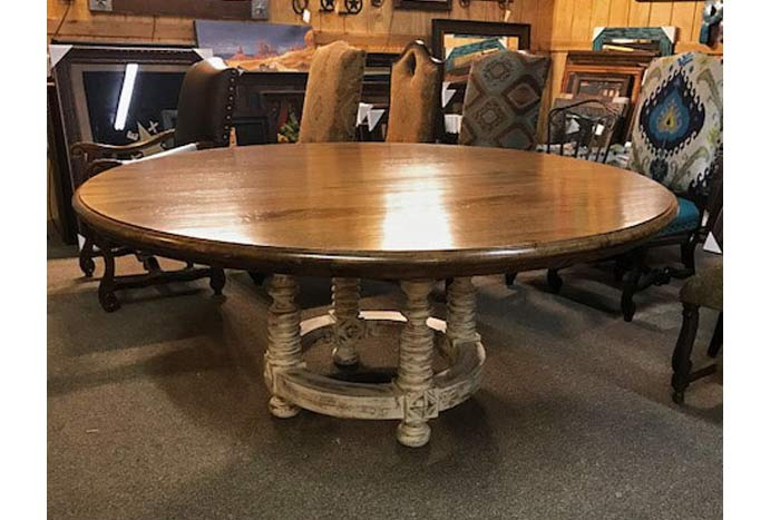 Melrose Two Tone Round Dining Table