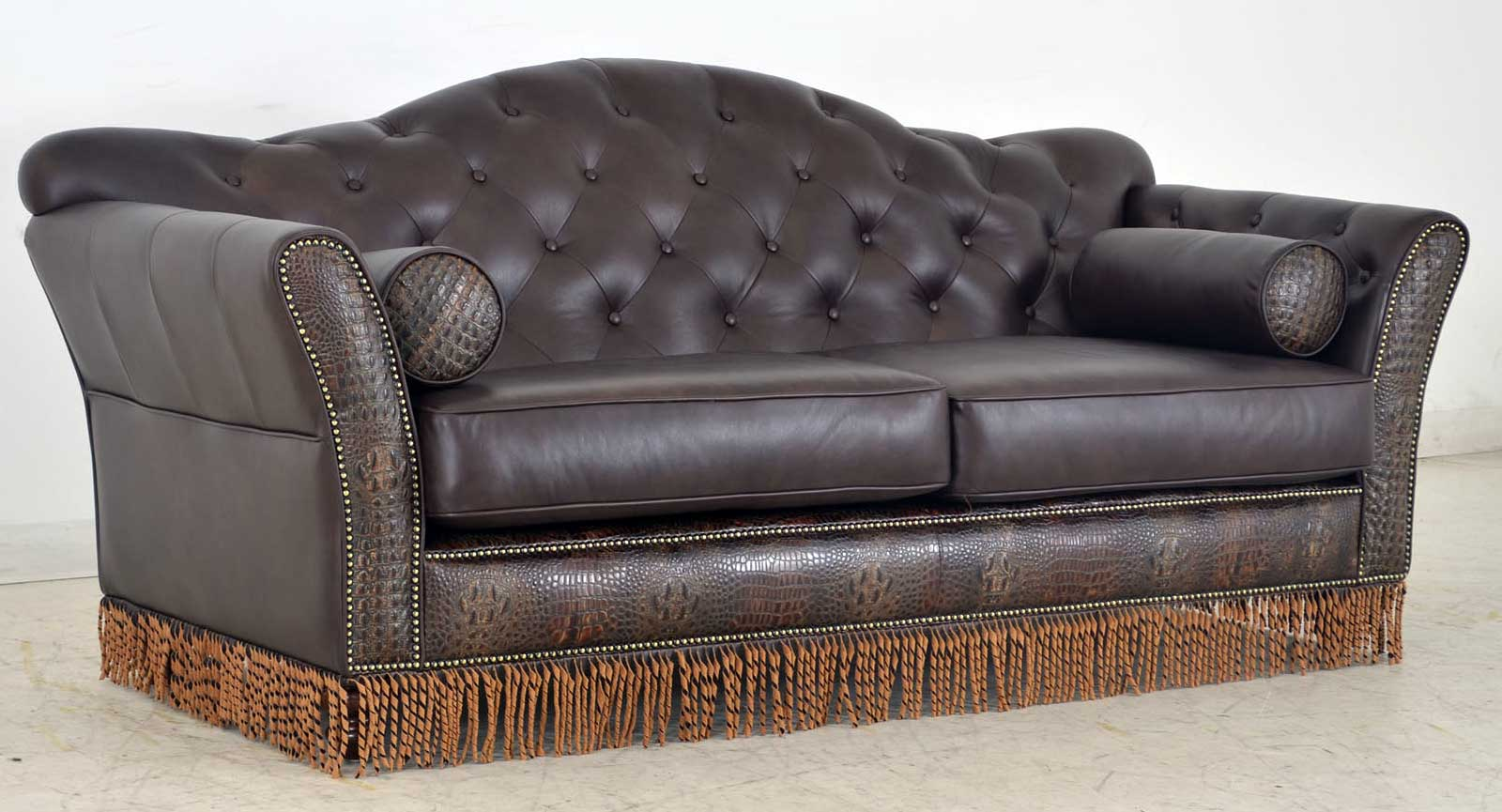 Memphis Tufted Back Sofa With Fringe