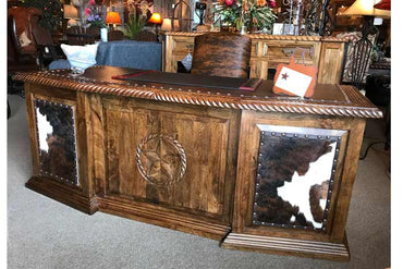 Star Executive Office Desk With Cowhide