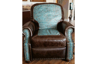 Ronelo Recliner With Turquoise and Cowhide