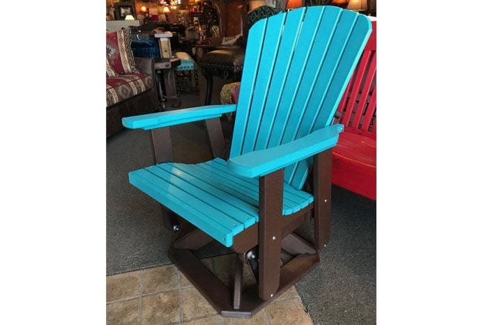 Turquoise Poly Outdoor Swivel Glider