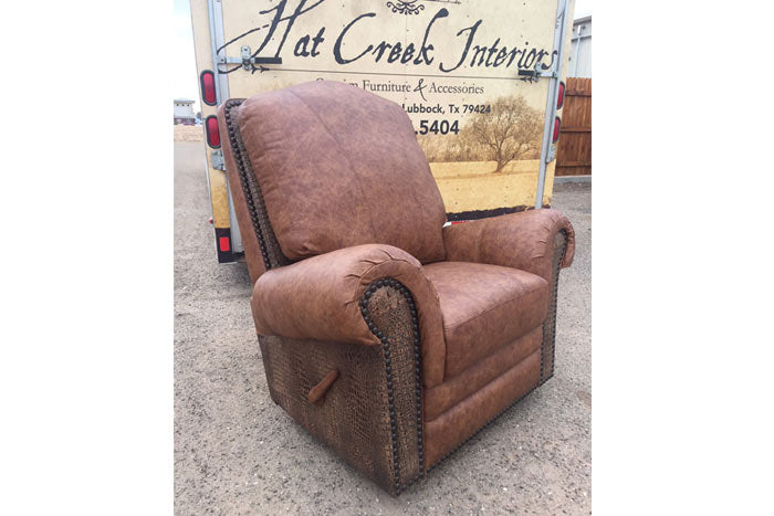El Patron Recliner - Gator Leather