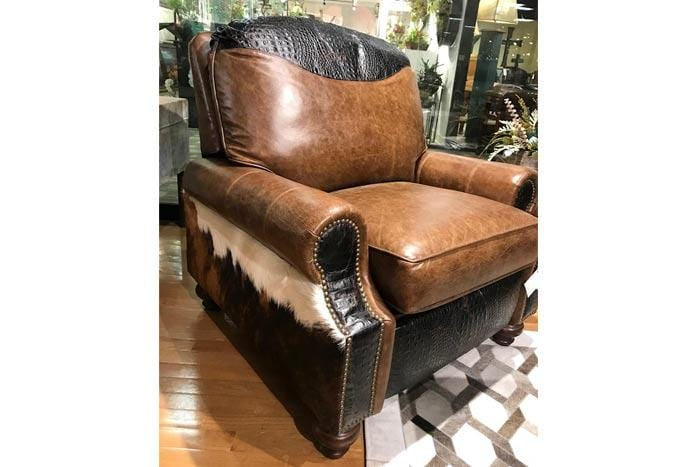 Wild Bill Leather & Cowhide Recliner