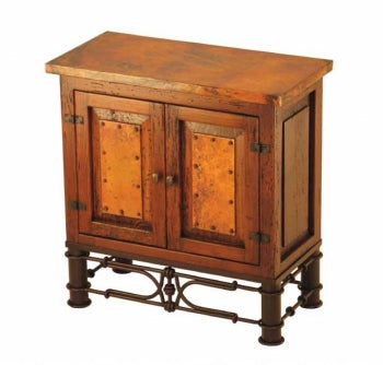 Copper-Top 2-Door Nightstand