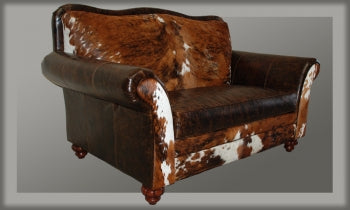 Western Leather and Cowhide Chair