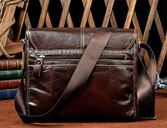 Cool Vintage Leather Mens Small Side Bag Messenger Bag Shoulder Bag for Men