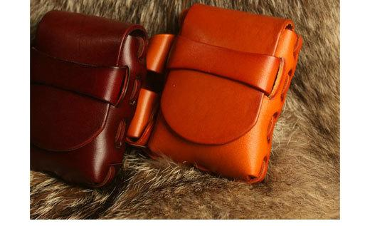 Cool Leather Mens Cigarette Case Cigarette Holder with Belt Loop Lighter Holder for Men