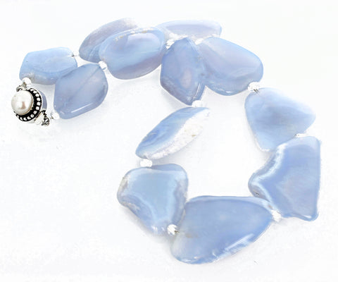 Translucent Glowing  Chalcedony Necklace