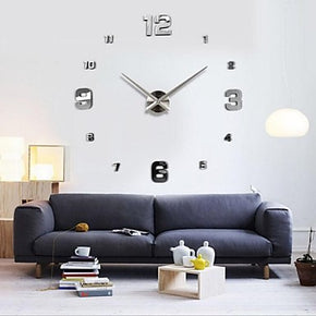 Modern / Contemporary Stainless Steel Wall Clock