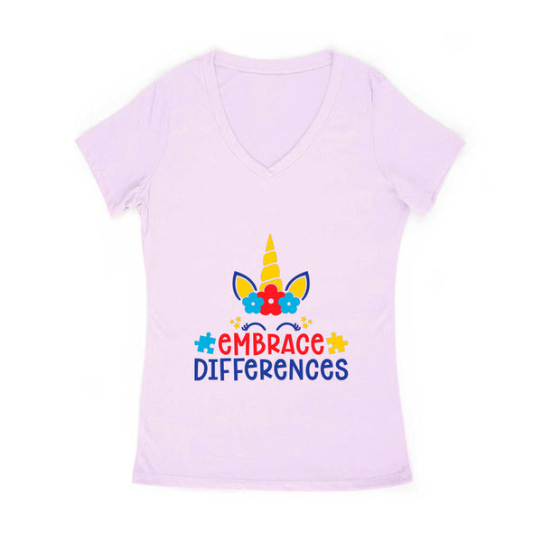 Embrace Differences Women's V Neck