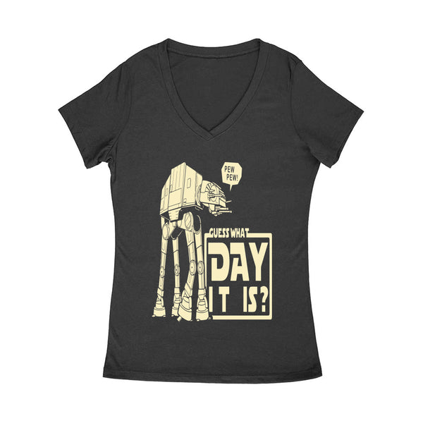 Guess What Day May 4th Women's V Neck