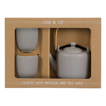 Load image into Gallery viewer, Grey Ceramic Tea Gift Set