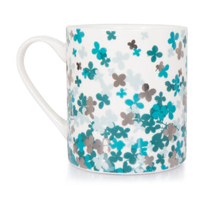 Scattered Blue Petal Mug