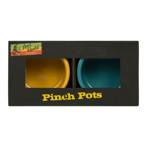 Yellow and Blue Pinch Pots