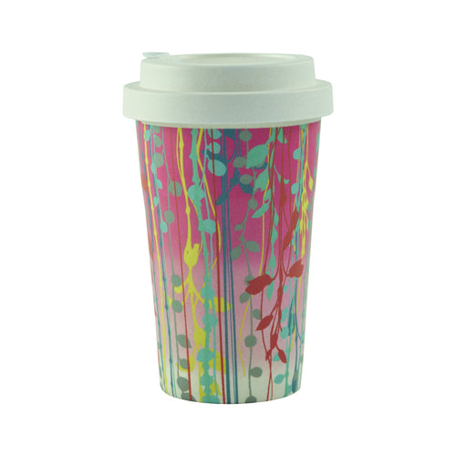 Bamboo Pink St Lucia Travel Cup