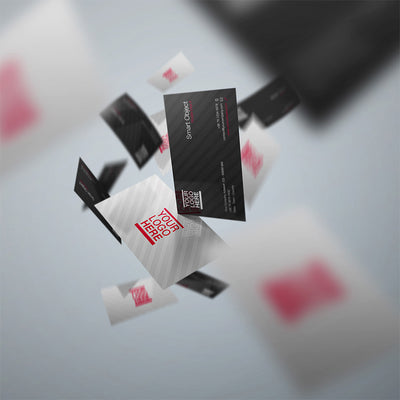 Flying Business Card Mockups