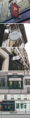 Five Store Signs and Facades PSD Mockups