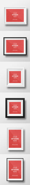 Clean White Empty Frame PSD MockUps