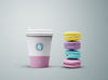 Coffee Cup and Cookies or Biscuits Mockup
