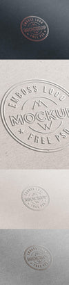 Top-Notch Emboss Paper Logo Mockup PSD
